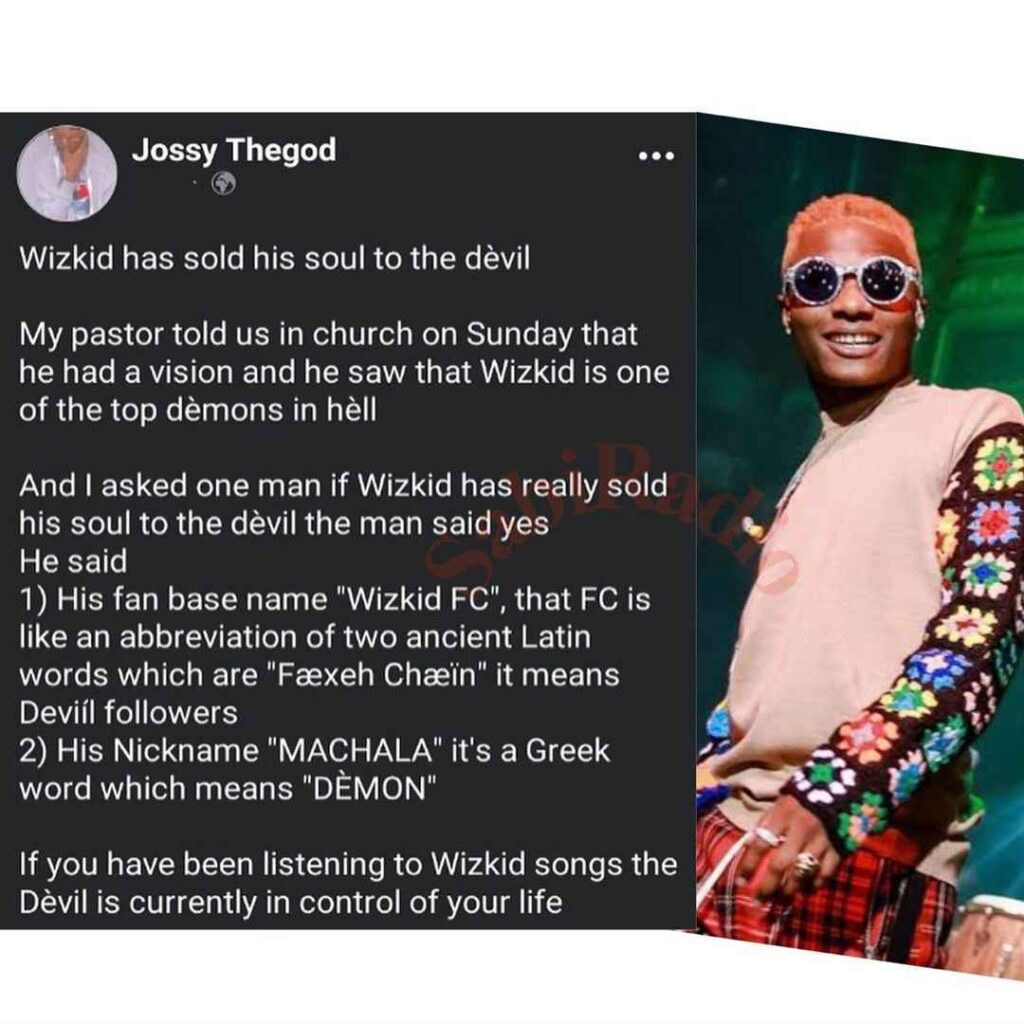 How Wizkid Sold his Soul to the Devil for Stardom – Man reveals