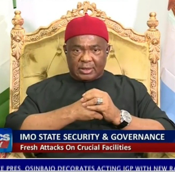 """Aggrieved politicians behind the recent attacks on Imo police stations and not IPOB"" - Governor Hope Uzodimma"