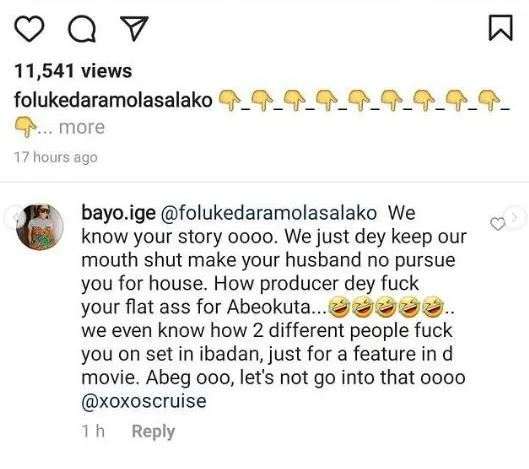 Nollywood actress, Foluke Daramola accused of sleeping with producers for movie role