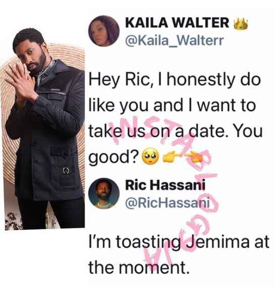 I'm Currently Toasting Jemima – Singer, Ric Hassani Shuns Lady Who Attempted to Shoot Her Shot
